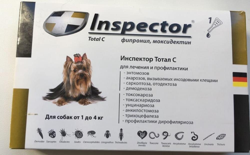 Капли для собак Инспектор