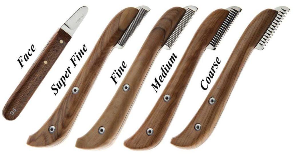 разные тримминговочные ножи