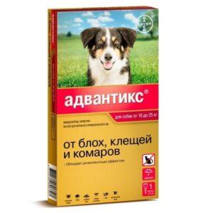 Адвантикс для собак т 10 до 25 кг